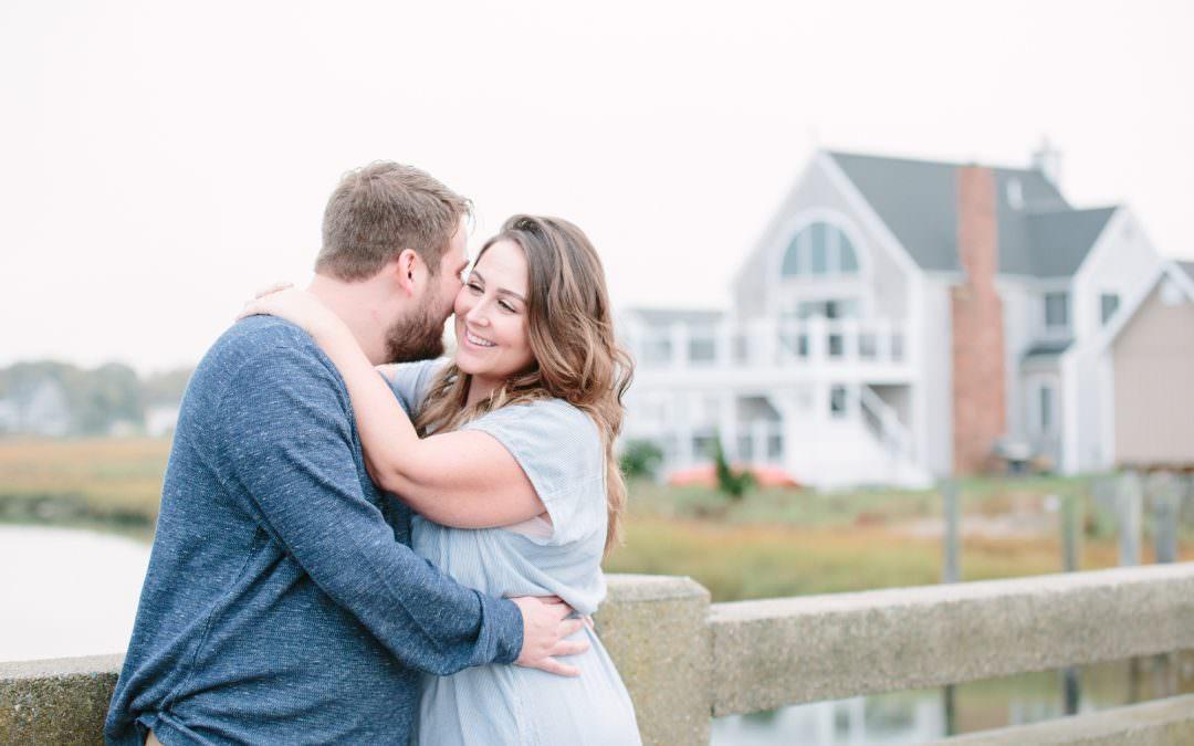 Green Harbor Beach  Engagement | Jillian and Joe