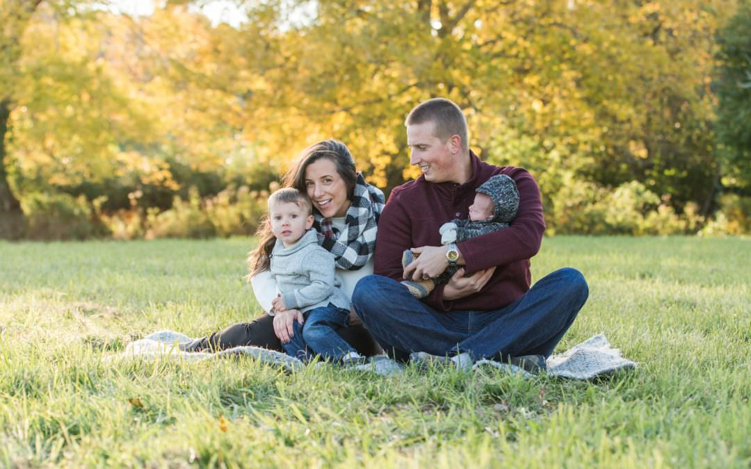 The {B} Family // Fall Newborn-Family Session | Chiltonville, MA