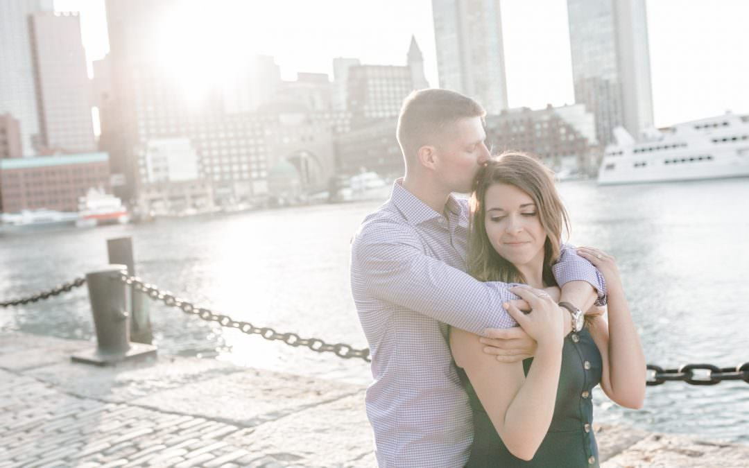 Boston Seaport Engagement Session | Brittney & Sean