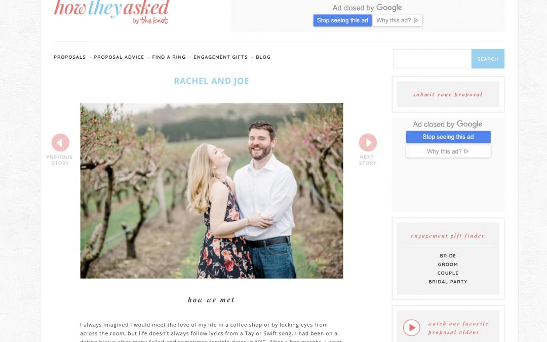 FEATURED ON HOW THEY ASKED | By The Knot + Tacari Weddings