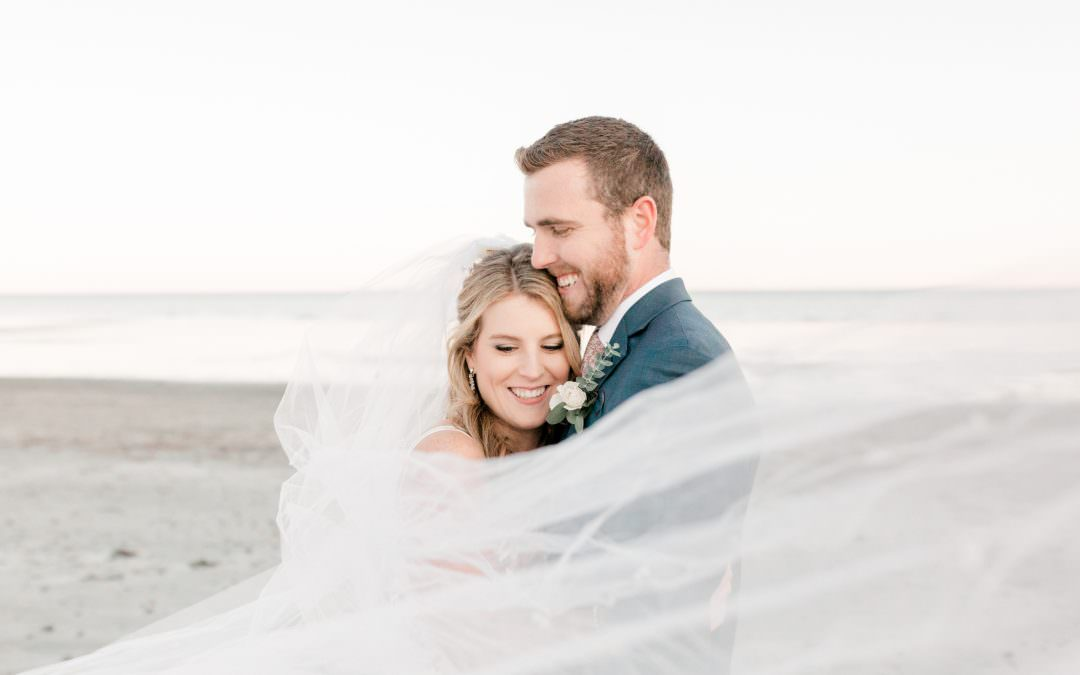 Bride and Groom Portrait Session | Rye Beach, NH