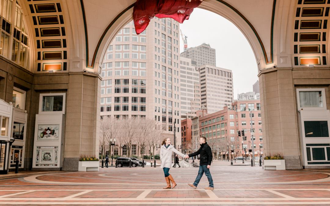 Faneuil Hall Engagement Session | Catherine & Ryan