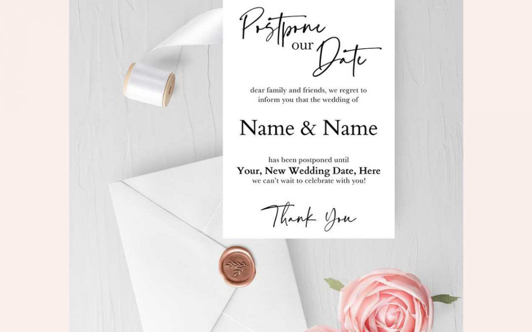 Free Editable Wedding Postponement Card | Wedding Wednesday