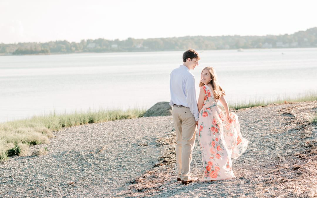 Callie and John Engagement | World's End, Hingham MA